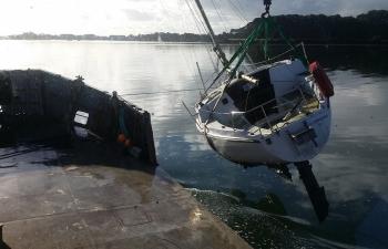 Relevage de navire échoué